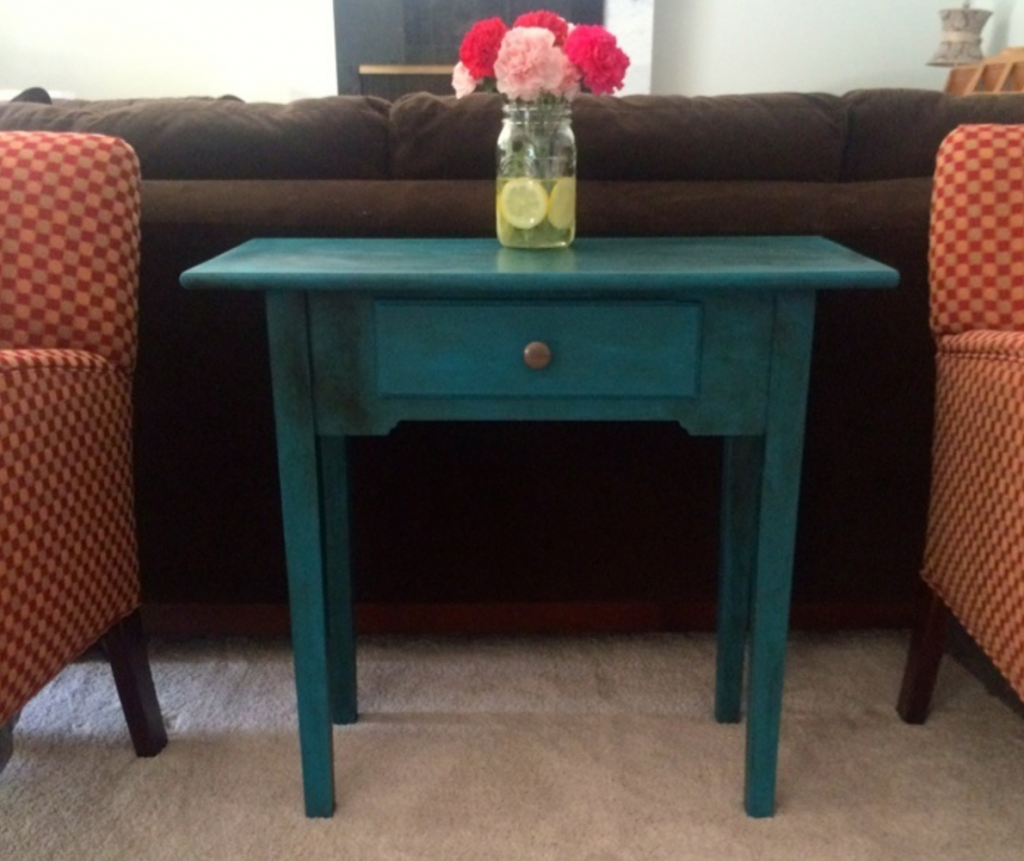 Paint a piece of furniture for a pop of color.