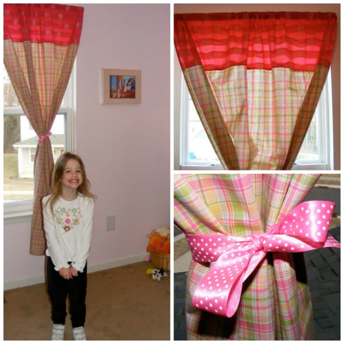 Inexpensive curtains can update any room in your home.