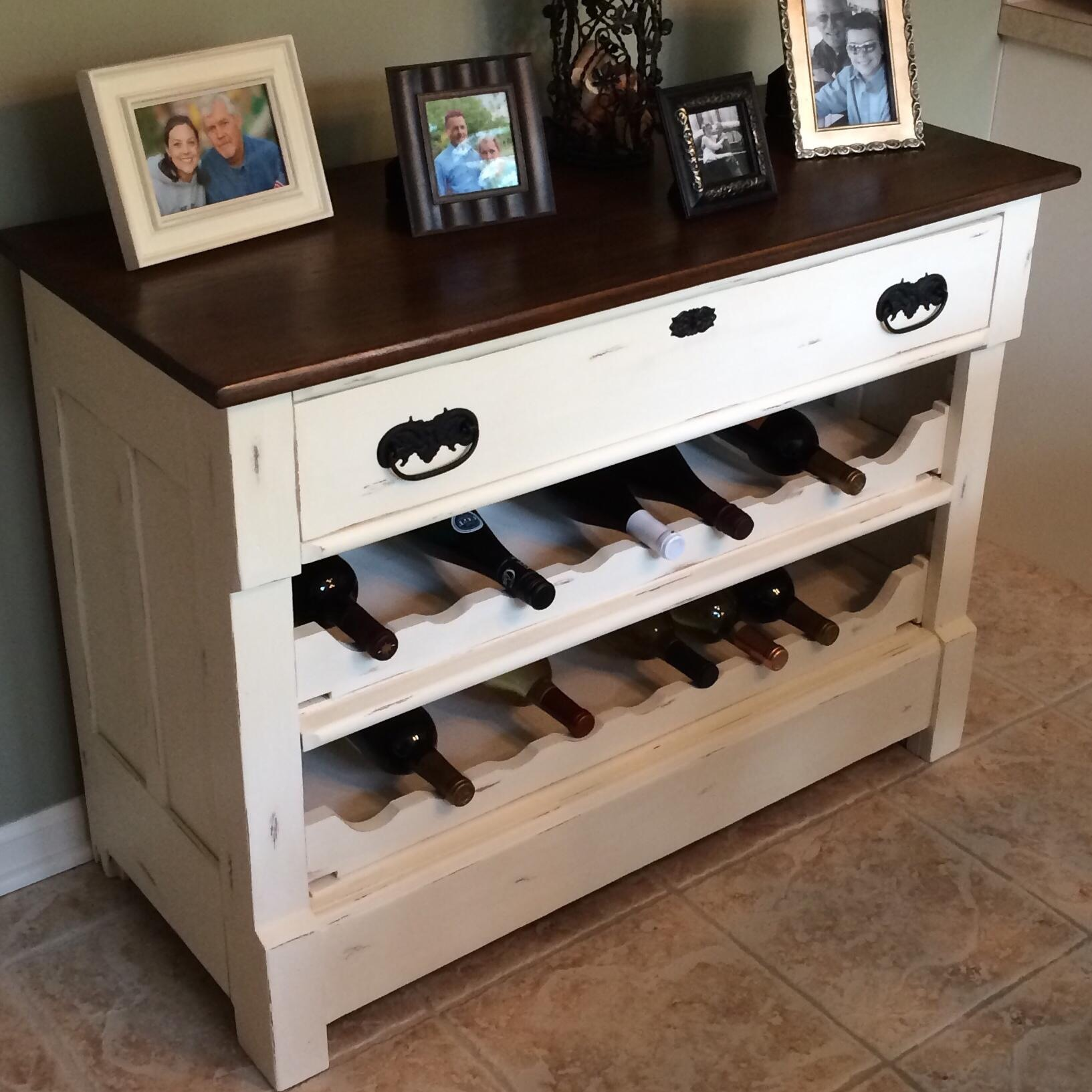 How to make dresser drawers - Turn Dresser Into A Wine Rack