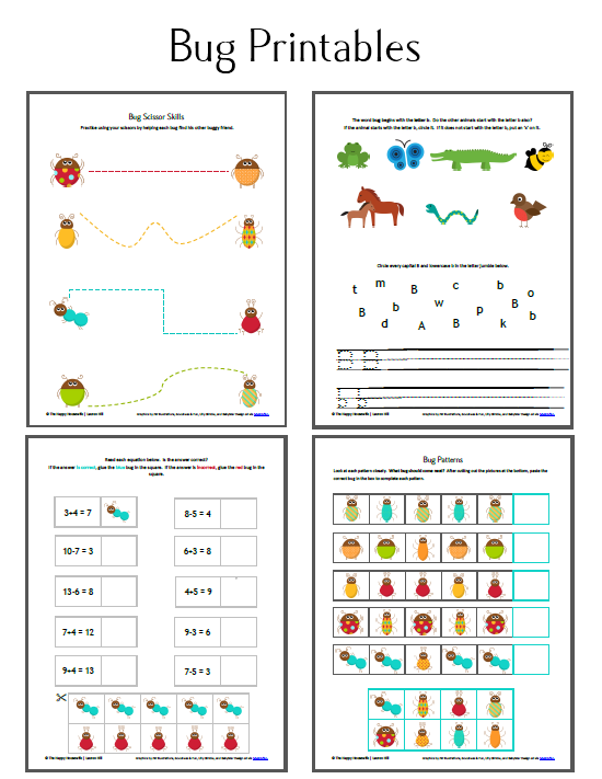 Bug Unit Study Worksheets And Printables The Happy