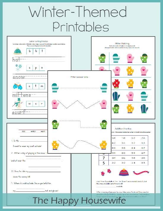 Addition Worksheets addition worksheets winter : Winter Worksheets: Free Printables - The Happy Housewife™ :: Home ...