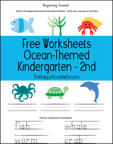 Ocean Themed Worksheets
