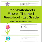 Flower Themed Printables