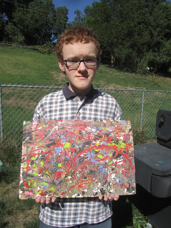 Son with painting