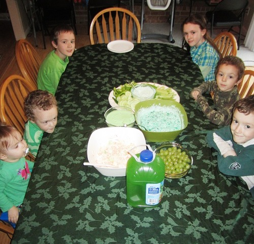 Kids Wearing Green