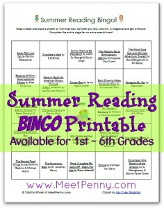 Free Summer Reading Bingo Printable with Read…