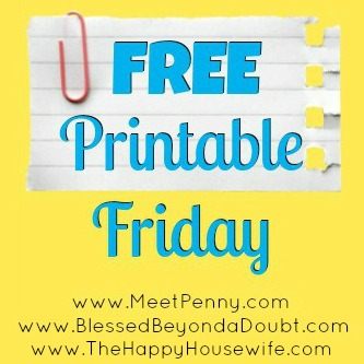 Free Printable Friday | The Happy Housewife