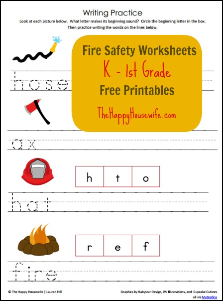 Fire Safety Worksheets | The Happy Housewife