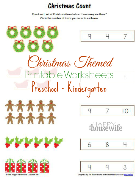 Christmas Themed Printable Worksheets | The Happy Housewife