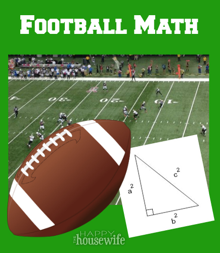 math worksheet : football math  the happy housewife™  home schooling : Football Maths Worksheets