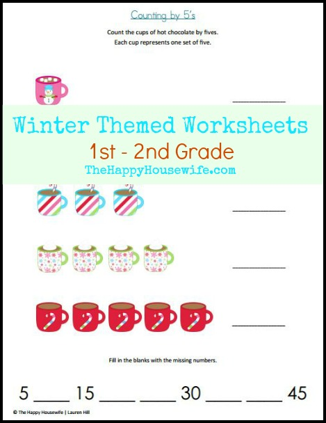 winter themed worksheets free printables the happy housewife home schooling. Black Bedroom Furniture Sets. Home Design Ideas