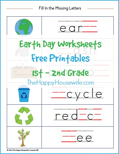 Earth Day Worksheets Free Printables  The Happy Housewife