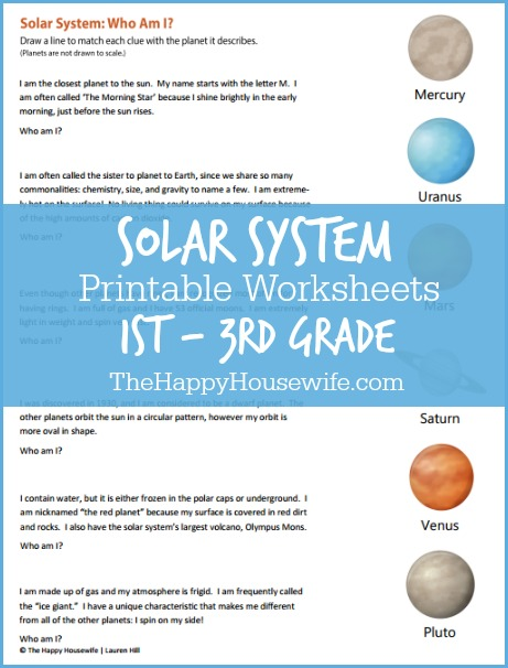 second grade solar system worksheets - photo #8