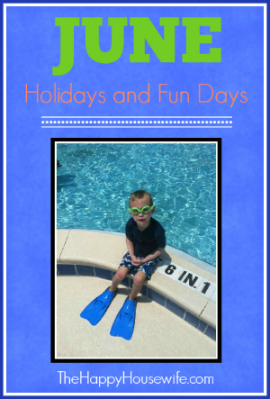 June Holidays and Fun Days