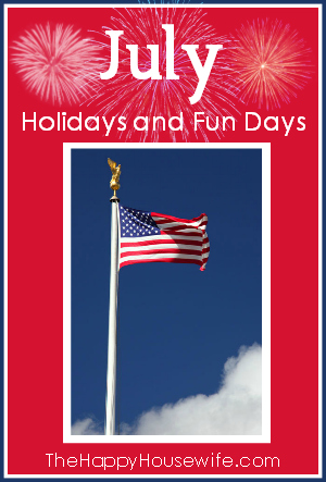 July Holidays and Fun Days
