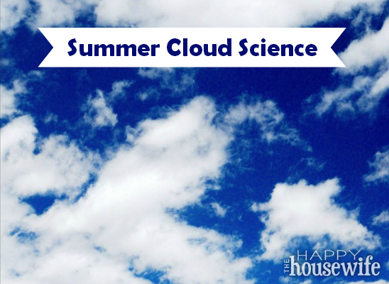 When hot and humid air makes the weather unstable in July and August, it's the perfect time to study different types of clouds with your kids.