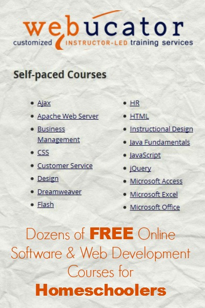 Free Online Courses for Homeschoolers | The Happy Housewife