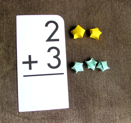 Flash Card Math Games at The Happy Housewife