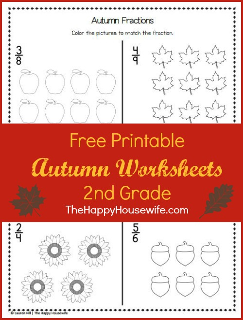 Free Printable Autumn Worksheets for 2nd Grade at The Happy Housewife