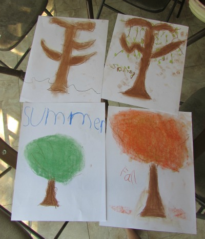 Trees Through the Seasons Art Project at The Happy Housewife