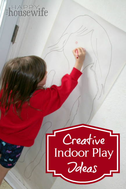 Creative Indoor Play Ideas at The Happy Housewife