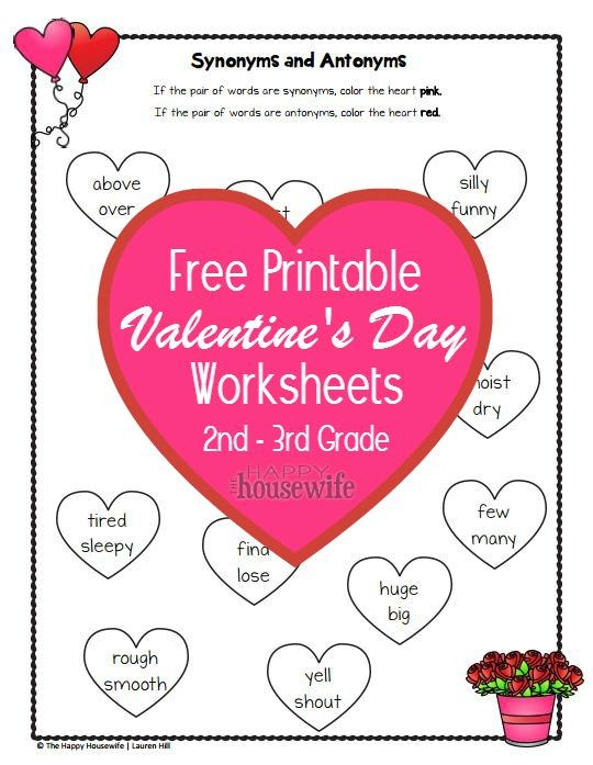 Valentines Worksheets Free Printables The Happy Housewife – Valentines Worksheets