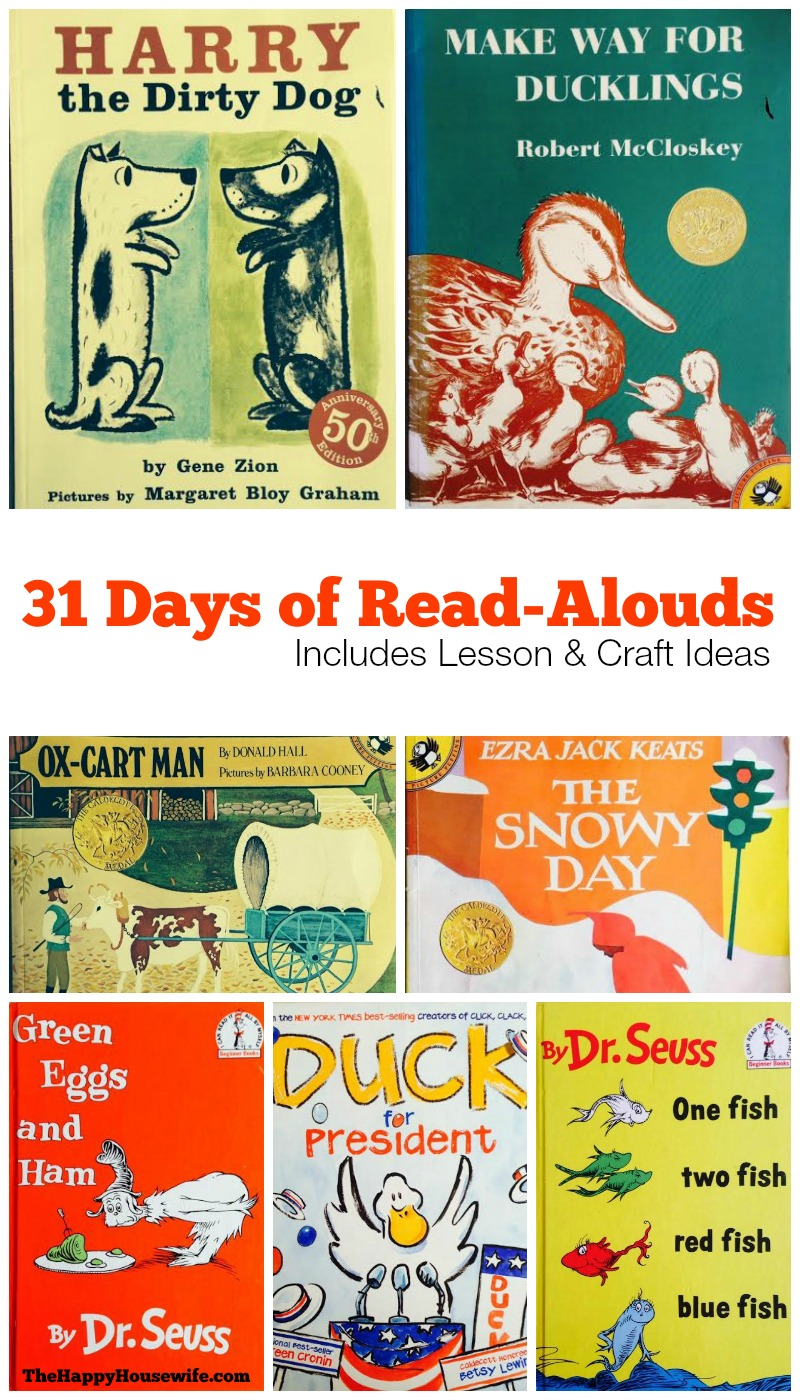 31 Days of Read Alouds from The Happy Housewife