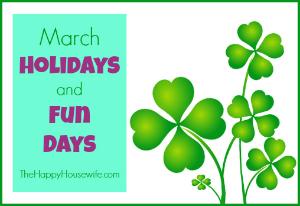 January Holidays and Fun Days