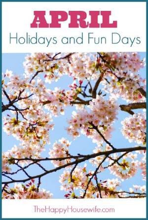 January Holidays and Fun Days