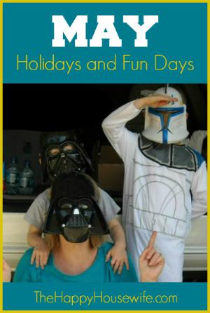 May Holidays and Fun Days