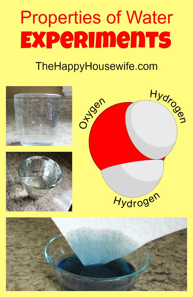 Properties of Water Experiments at The Happy Housewife