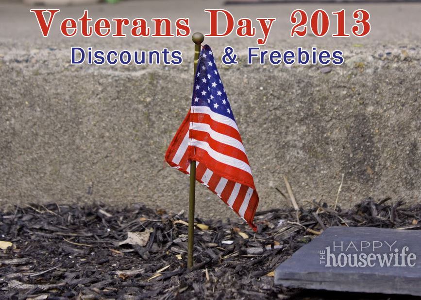 veterans day deals 2013 Veterans Day Discounts and Freebies