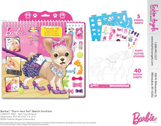 barbie purrfect pet sketch portfolio 5 Tips to Keep the TV Off this Summer + a Prize Pack Giveaway from Mattel
