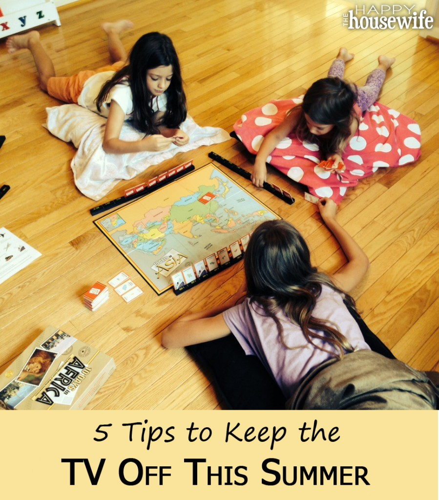 5 Tips for How to Keep the TV Off This Summer | The Happy Housewife