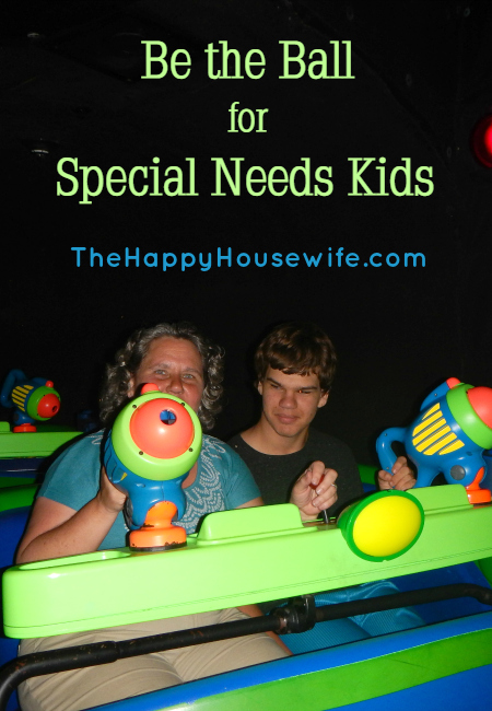 Be the Ball for Special Needs Kids at The Happy Housewife