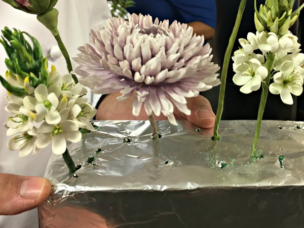 These flowers are edible and made of out gum paste!