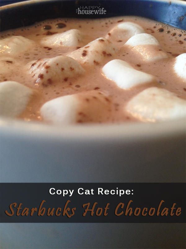 Starbucks Hot Chocolate Recipe at The Happy Housewife