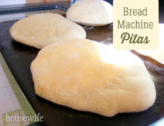 Bread Machine Pitas at The Happy Housewife