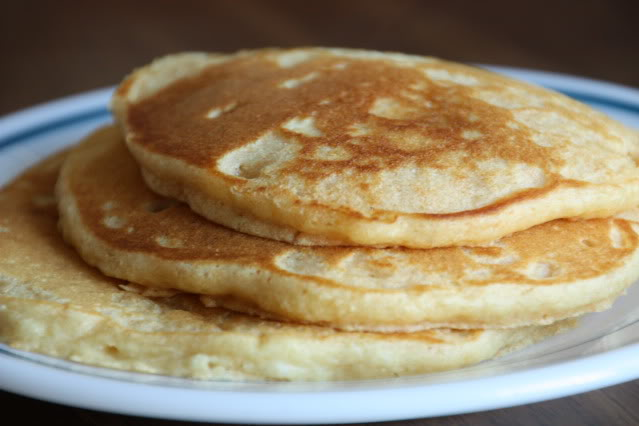 Whole Wheat Pancakes at The Happy Housewife