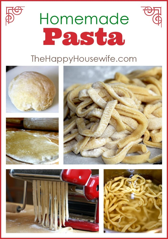 Homemade Pasta at The Happy Housewife