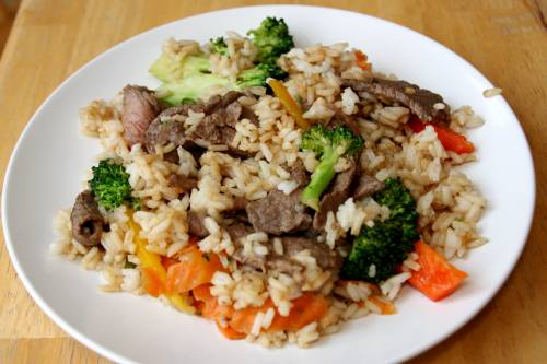 Steak Stir Fry at The Happy Housewife