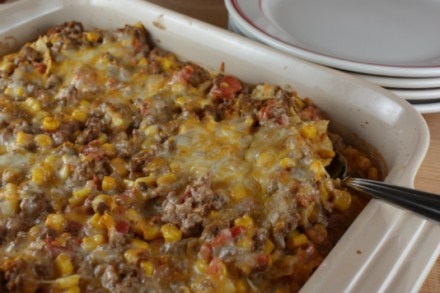 Game Day Recipes - Beef Nacho Casserole