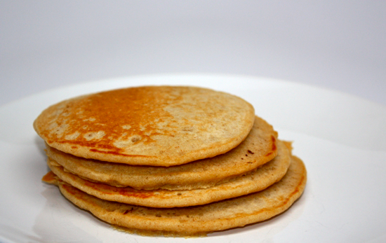 Whole Wheat Oatmeal Pancakes at The Happy Housewife