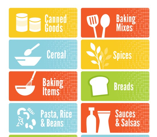 Pantry labels organized in 365 the happy housewife for Kitchen cabinets lowes with how to make sticker labels