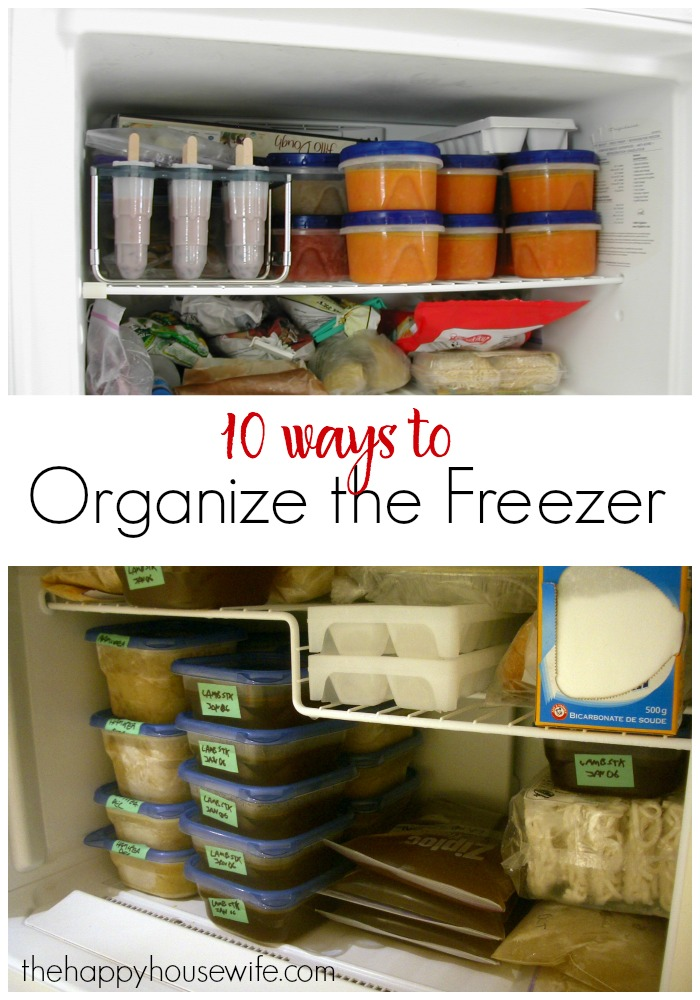 10 ways to organize the freezer