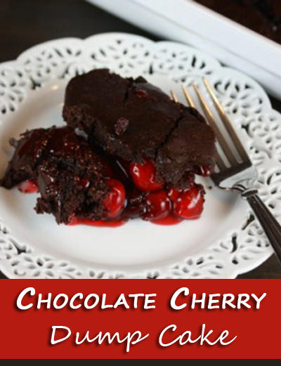 Chocolate Cherry Dump Cake | The Happy Housewife
