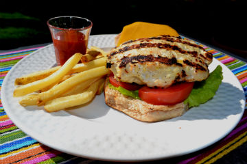Chicken Apple Burgers at The Happy Housewife