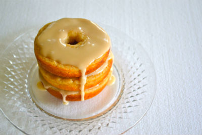 Baked Buttermilk Donuts with Maple Glaze