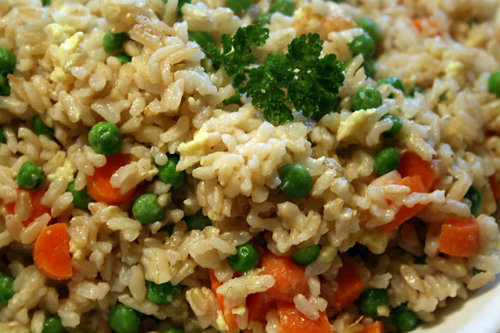 House Fried Rice could include chicken, shrimp, beef, pork or any combination of the four. It makes a great weekday dinner that is quick and easy.