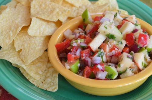 Apple Salsa at The Happy Housewife